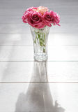 Vase with roses Stock Photos