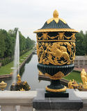The Vase and Sampson Fountain, Peterhof Stock Image