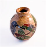 Vase from San Juan del Oriente. Hand-made terra-cotta vase from San Juan del Oriente in Nicaragua. This creation is inspired by the native inheritance of Royalty Free Stock Photos