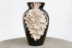 Vase sculpture hand made on the table Stock Photos