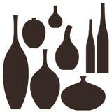 Vase. Set. Isolated objects on white background. Vector illustration (EPS 10 Royalty Free Stock Images