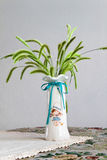 Vase And Setaria Royalty Free Stock Photo