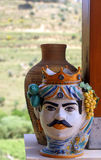 Vase sicilian. The typical sicilian ceramic vase stock photo