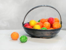 Vase for sweets and candy dragees Royalty Free Stock Photos