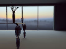 Vase on the table, 3d Royalty Free Stock Photo