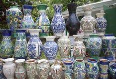 Vase traditionnellement fabriqué à la main Photo libre de droits