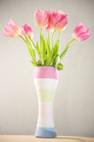 Vase of tulips Royalty Free Stock Photo