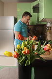 Vase of tulips Royalty Free Stock Photo