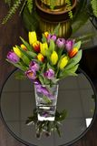 Vase with tulips Stock Images