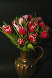 Vase of tulips Stock Images