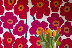 Vase Tulpen Stockfoto