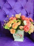 Vase und Blume stockfotos