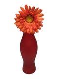 Vase und orage Blume Stockfotografie