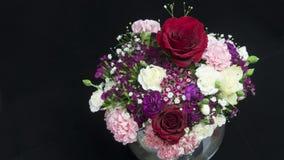 Vase of various flowers, fragrant stock photos
