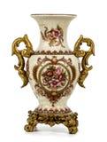Vase on white background stock images