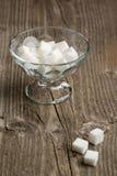 Vase of white sugar Stock Photos