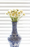 A vase of wild flowers royalty free stock image