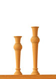 Vase wood Royalty Free Stock Photos