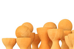 Vase wood Royalty Free Stock Image