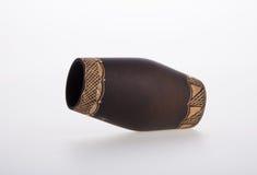 Vase or Wooden vase designed in modern style good for home decor Stock Image