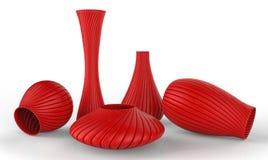 Vasen lokalisiert auf Weiß Stockbilder