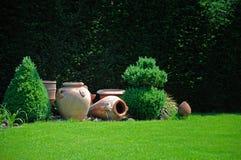 Vasen und amphorae Stockfoto