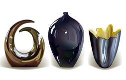 Vaser uppsättning, realistiska objekt royaltyfri illustrationer