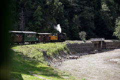 Vaser Valley and Mocanita Old Train in Maramures Romania Stock Photography
