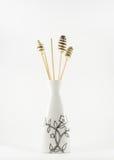 Vases à Aromatherapy sur un fond blanc Photo stock