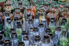 Vase à fleur d'en céramique et d'argile Photographie stock libre de droits