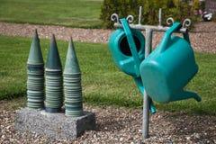 vases δοχείων πότισμα Στοκ Φωτογραφία