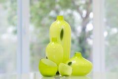 vases κίτρινα Στοκ Εικόνες