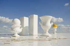 vases ουρανού ζωής ακόμα λευ&ka Στοκ Φωτογραφίες