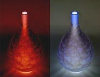 Vases bleus et rouges à porcelaine (négatifs) Image stock