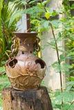 Vases décoratifs à argile Images libres de droits