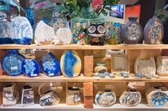 Vases de fantaisie malaisiens à poterie de terre Images libres de droits