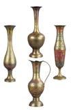 Vases en laiton images libres de droits