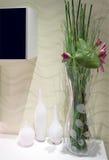 Vases en verre Photographie stock