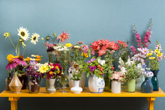 Vases with flowers Stock Image
