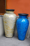 Vases with glass mosaic Stock Photography