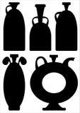 Vases icons isolated on white background Stock Photography