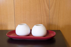 Vases in the interior stock photos