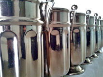 Vases in line Stock Photography