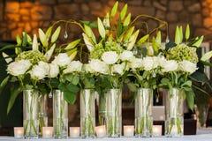Vases med blommor Royaltyfria Bilder