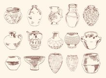 Vases and pitchers Royalty Free Stock Photos