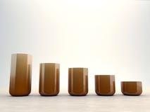 Vases sur le parquet Photographie stock libre de droits