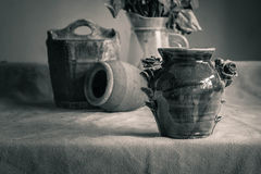 Vases on the table. Royalty Free Stock Photos