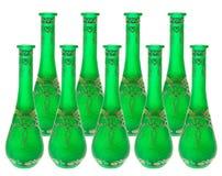 vases verts en verre image libre de droits