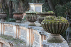 Vases in Villa Doria Pamphili Public park Royalty Free Stock Photo