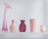 vases on white shelf Royalty Free Stock Photos